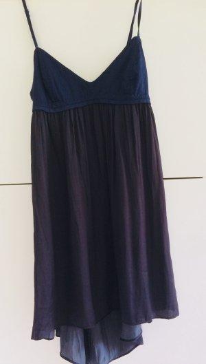 Zara Vestido bustier azul oscuro