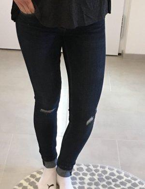 Zara xs 34 Jeans Hose Röhrenhose blau used Look