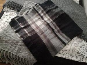 Zara Bufanda de punto negro-gris oscuro