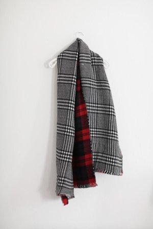 Zara XXL Schal kariert Karo Blanket Scarf Rot Schwarz Weiß ausverkauft Blogger