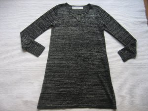 zara zaraknit mini kleid tunika schwarz mit gold lurex gr. s 36 neuwertig