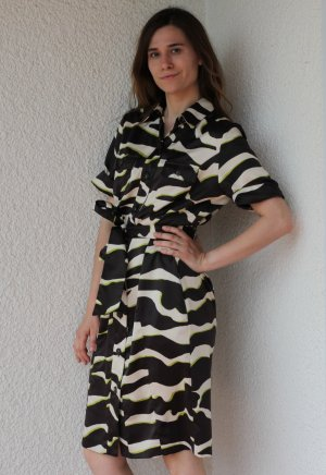 Zara Zebra Safari Kleid Sommerkleid Blusenkleid Hemdkleid