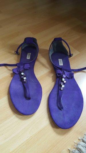 Zara Strapped Sandals silver-colored-dark violet