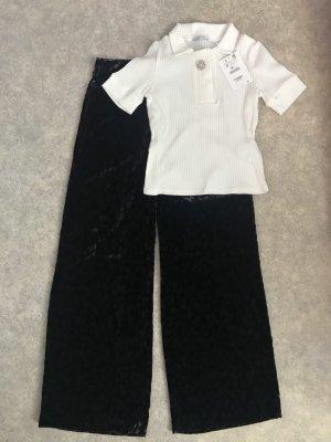 Zara Culotte noir-blanc