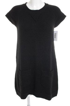 ZARAKNIT Abito di maglia nero stile casual