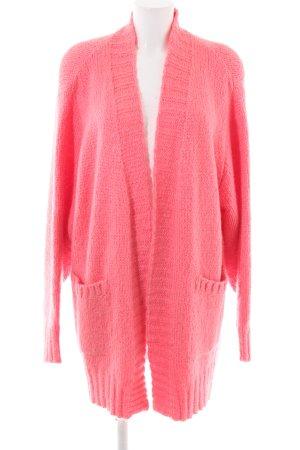 ZARAKNIT Knitted Coat pink casual look
