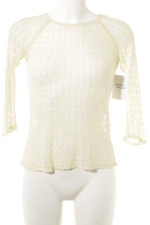ZARAKNIT T-shirts en mailles tricotées jaune clair motif tricoté lâche