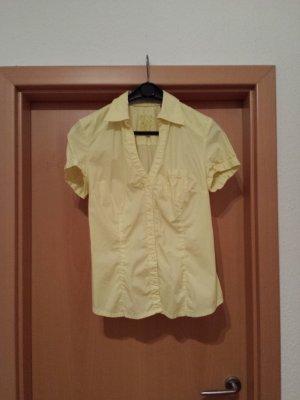 zart gelbe Kurzarm-Bluse / Hemd von s.Oliver (QS), Gr. 40