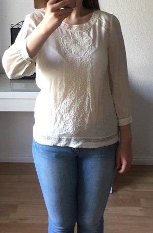 Zarte Bluse in Ivory