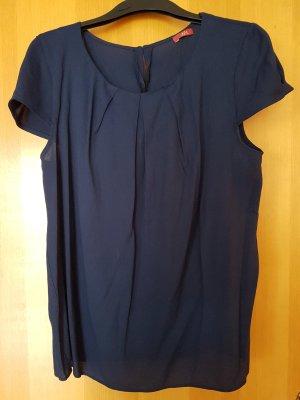 zarte dunkelblaue Bluse mit Ärmel von Esprit