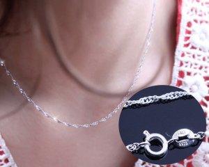 zarte gedrehte Kette aus 925 er Silber Halskette Damenkette
