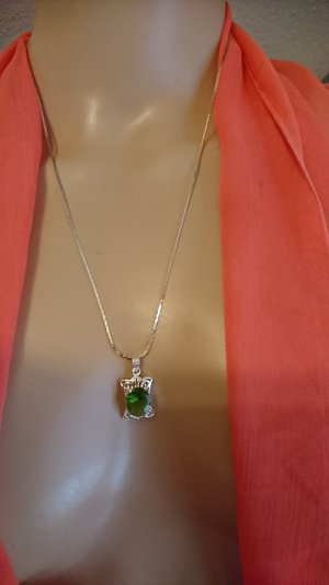 Collier Necklace silver-colored-green