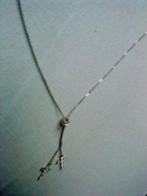 zarte kleine Halskette versilbert mit Kreuzchen Lilii