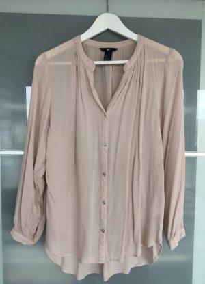 Zarte nudefarbene Oversized Bluse von H&M