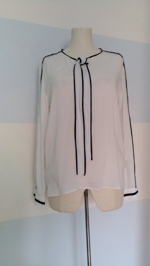 Max & Co. Blusa collo a cravatta bianco-nero Viscosa