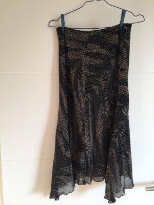 Mango Pencil Skirt black-white