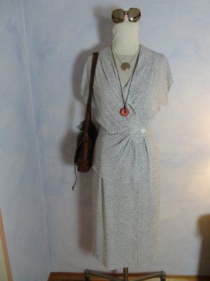 Vintage Vestido cruzado blanco-negro