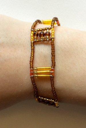 Zartes Armband in gelb-braun-Tönen