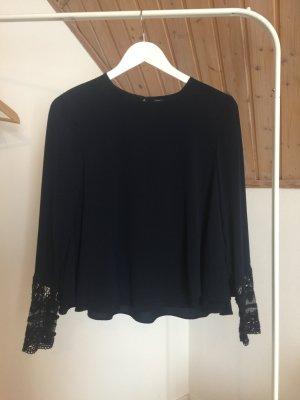 Zara Trafaluc Slip-over blouse donkerblauw Katoen