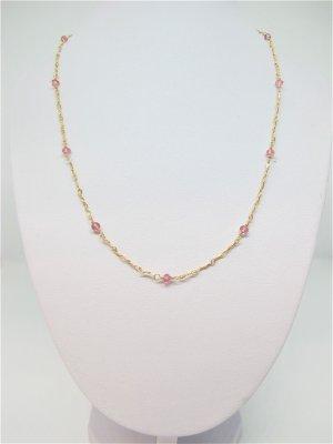 Collier doré-rose clair