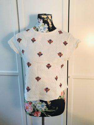 Zartes leicht bauchfreies T-Shirt
