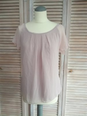 Zartrosa Blusen-Shirt