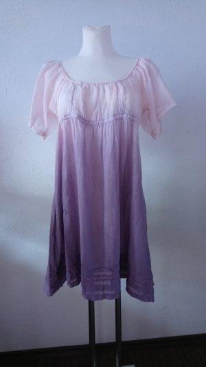 Zauberhafte Bluse im Farbverlauf rosè bis beere mit Seide  Größe XL