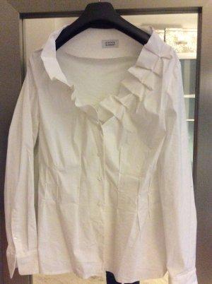 Steffen Schraut Long Sleeve Blouse white cotton