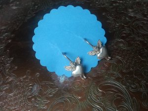 Zauberhafte Engel Ohrhänger,  925er Silber!