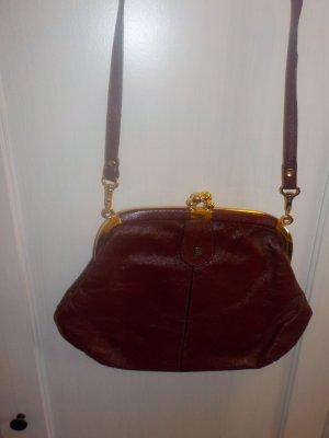 Zauberhafte kleine weinrote Vintage/Retro-Tasche