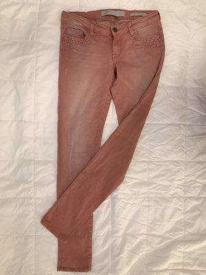 Guess Pantalón de tubo rojo claro-salmón