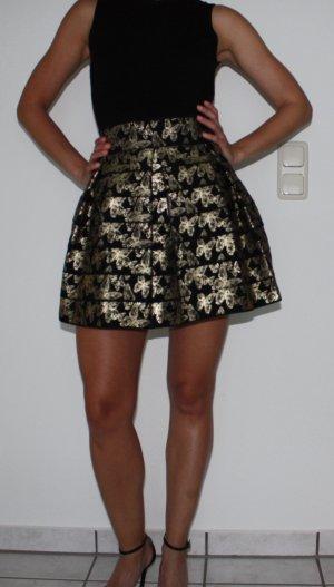 Guess Minifalda negro-color oro Poliéster