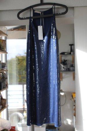 zauberhaftes blaues Paillettenkleid von Stefanel
