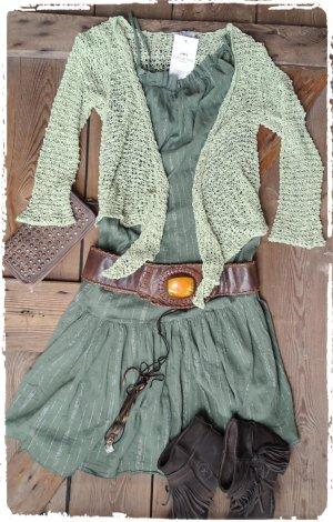 Robe Hippie vert olive-kaki