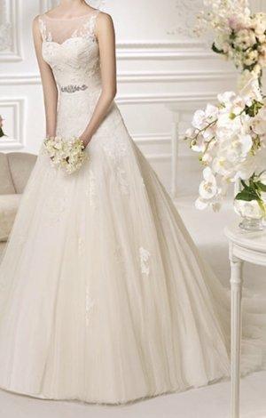 Pronovias Robe de mariée blanc tissu mixte
