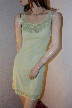Zauberhaftes Nylon Romantik Unterkleid Negligee hellgrün selten 42