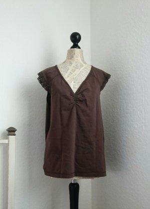 Bonaparte Empire Waist Shirt brown cotton