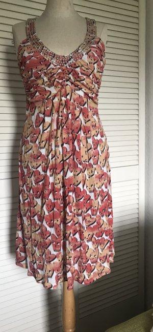 Amor & Psyche Mini Dress white-salmon viscose