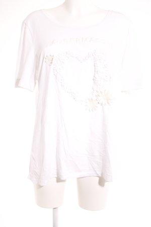 Zaubermasche T-Shirt weiß Schriftzug gestickt Casual-Look