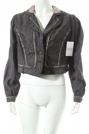 ZAY Clothing Kurzjacke dunkelgrau-beige Jeans-Optik