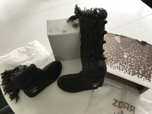 Winter Boots black brown mixture fibre