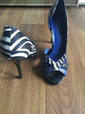 Zebra blaue Guess Pumps