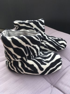 Zebra Booties Hausschuhe