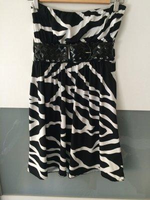 Zebra Kleid mit Mode-Gürtel