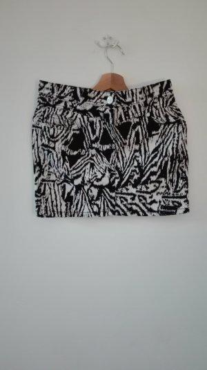 Zebra Minirock aus Jeans mit Taschen