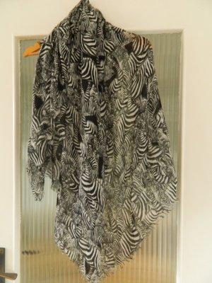 Zebra Schal Tuch Monki Fransen