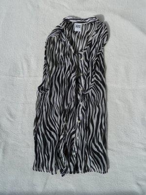 Zebrabluse Bluse leicht ärmellos Muster Design