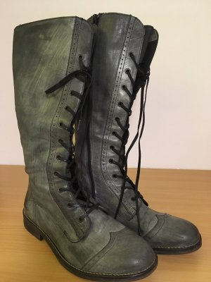 Lace-up Boots anthracite-slate-gray leather