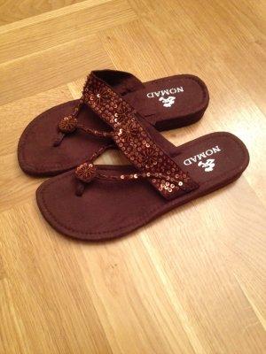 Zehen Sandaletten braun