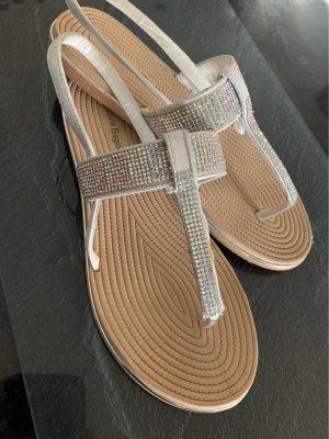 Zehen -Sandaletten glitzer Laura Biagiotti  gr 40